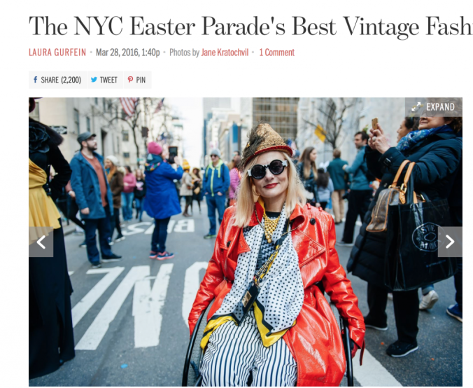 Racked Best Vintage Looks at the NYC Easter Hat Parade 2016