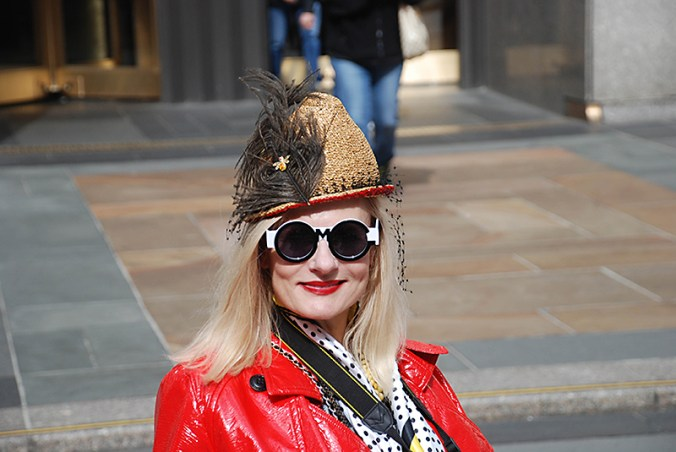 wheelchair disabled blogger at the easter hat parade 2016