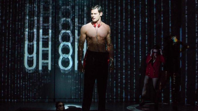 "Benjamin Walker as Patrick Bateman on Broadway in ""American Psycho."""
