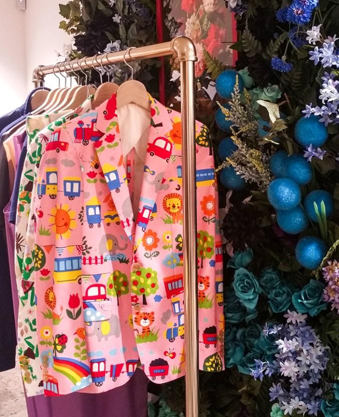 pink Walter Van Beirendonck jacket from Dover St Market NYC