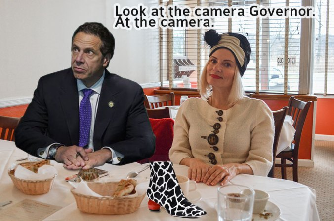 Lunching with Governor Cuomo to thank him for my tax rebate