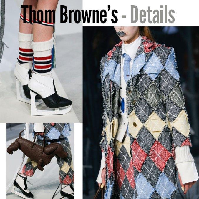 Thom Browne fall 2017 details
