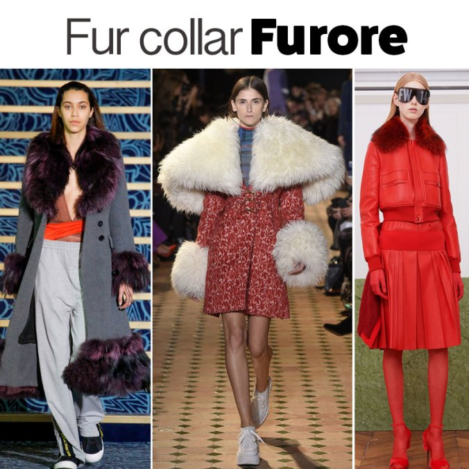 Fur collar trend Fall 2017