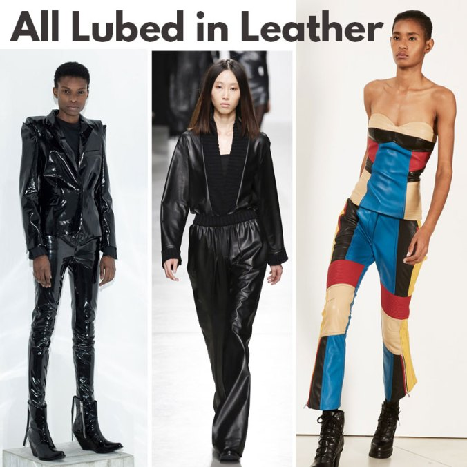 Head to toe leather for fall 2017 - trends