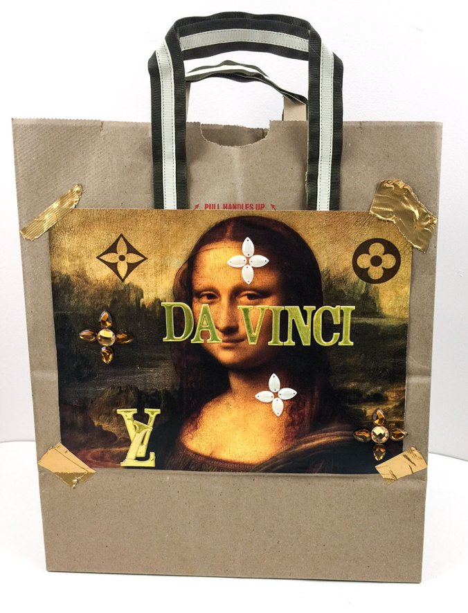 DIY Louis Vuitton Jeff Koons Mona Lisa Tote