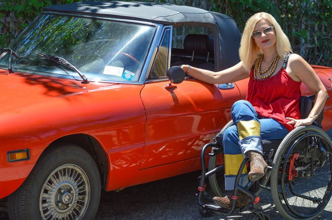1976 alfa romeo and wheelchair blogger
