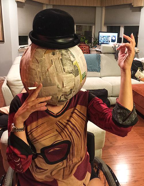 DIY paper mache doll head