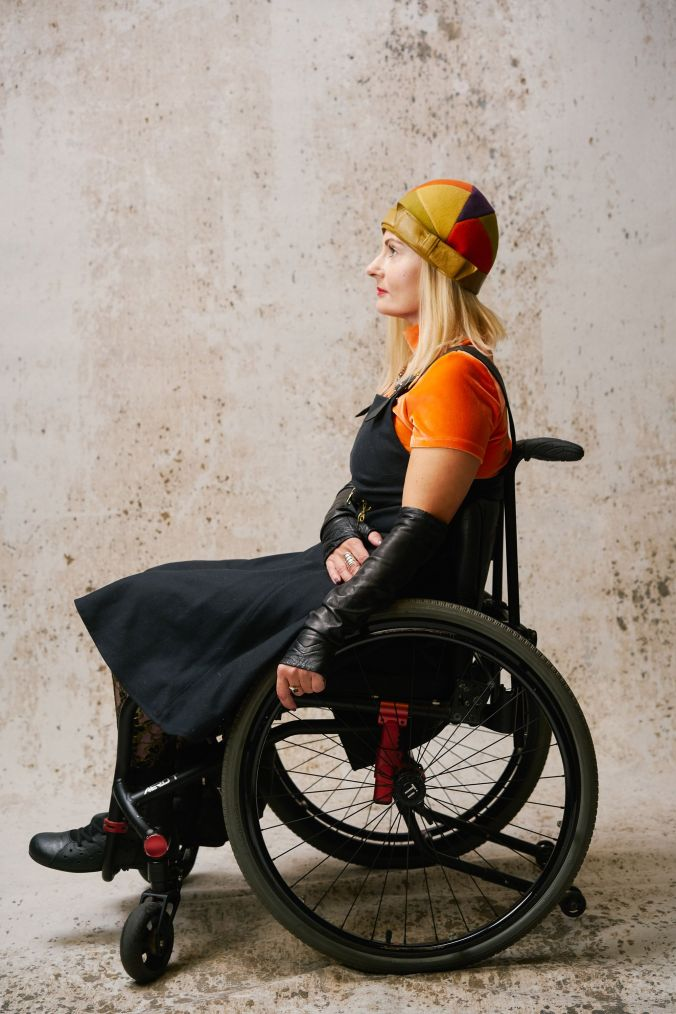 Wheelchair disabled fashion blogger