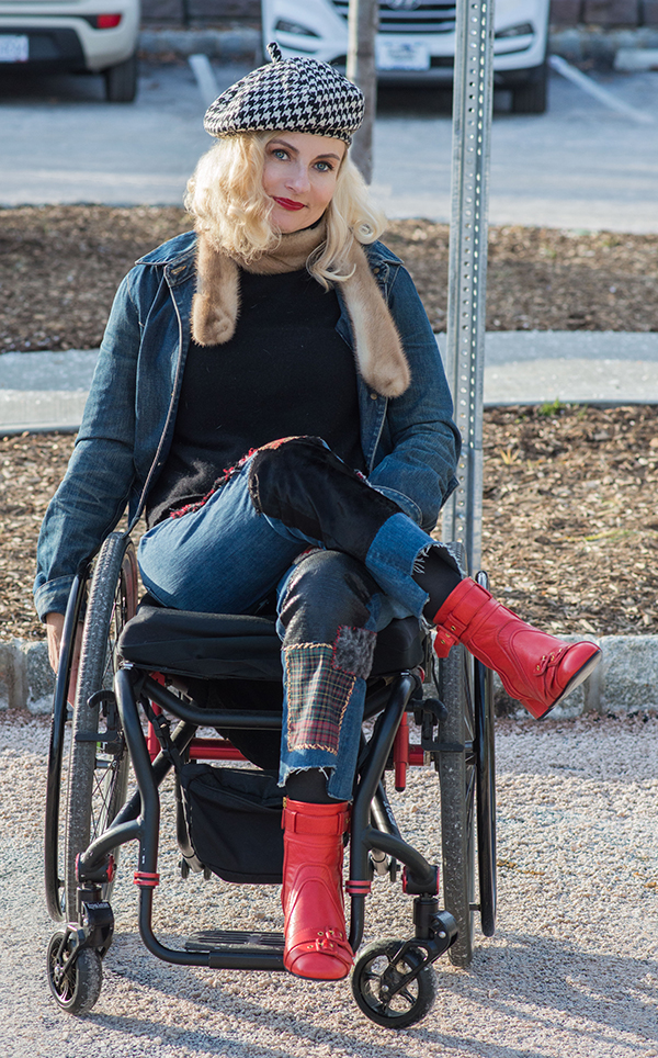 Pretty Cripple disabled blogger and her DIY Junya Watanabe jeans