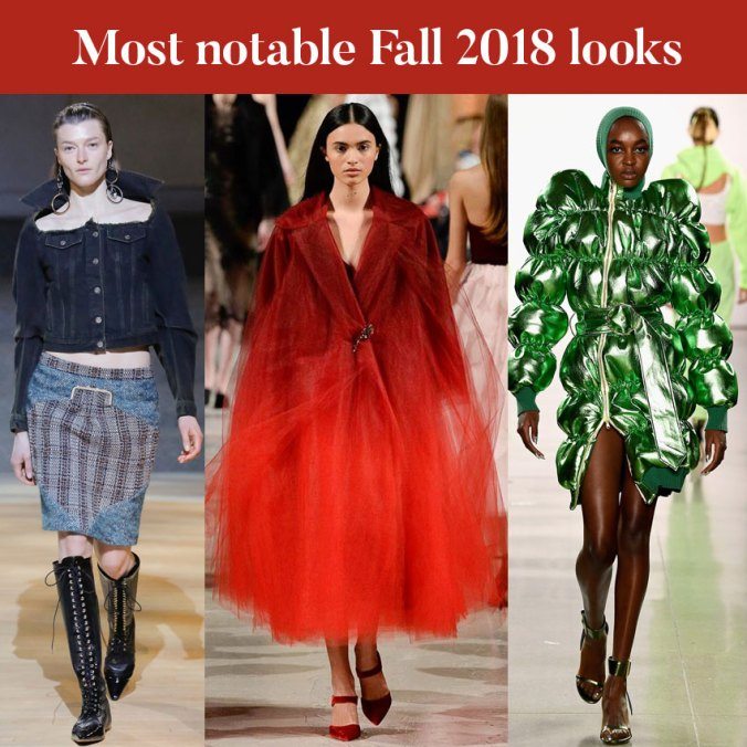 Most notable look from NYFW fall 2018