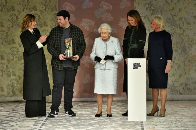 Richard Quinn and the Queen