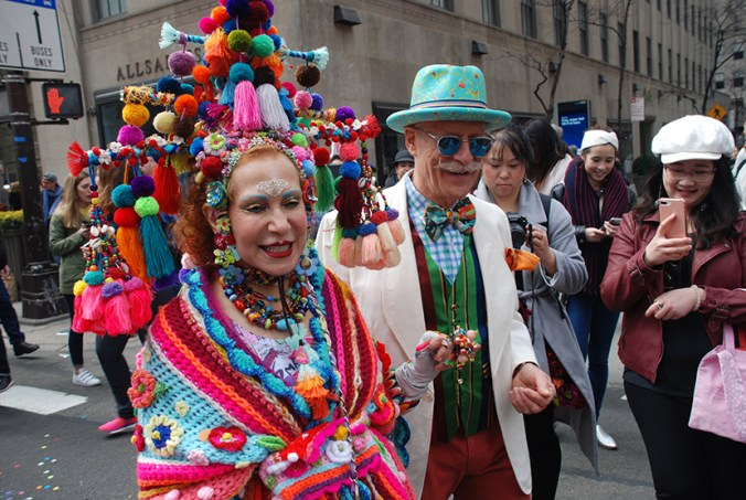 purely patricia at the ny easter hat parade