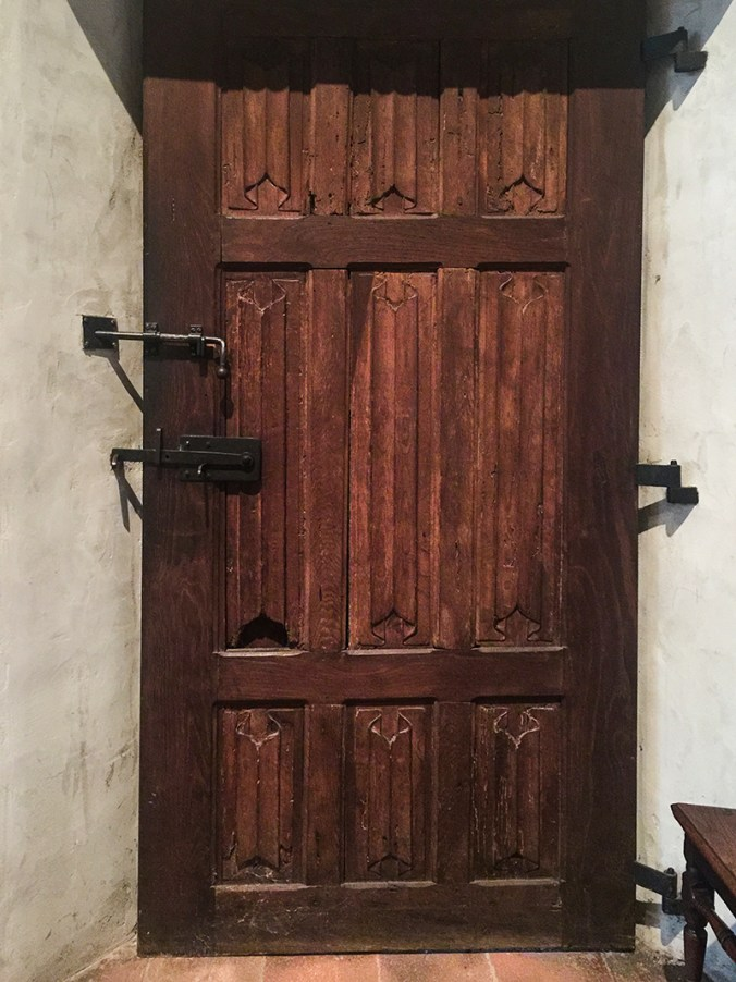 an old door at the Cloisters