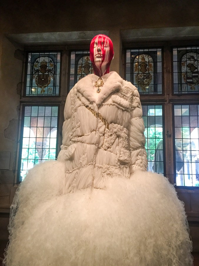 Thom Browne sheared mink gown at the Cloisters