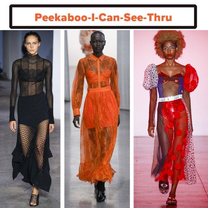 See through transparent dress spring 2019 trend