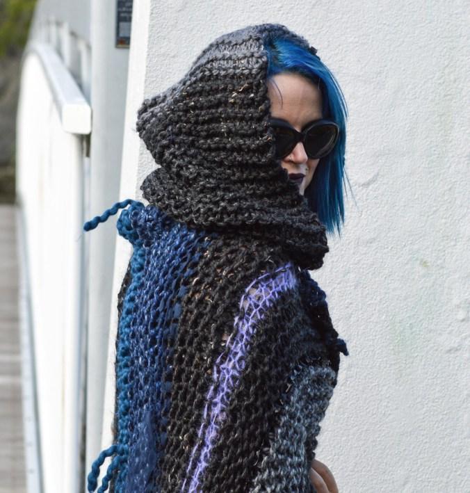 Custom knit wrap on Etsy