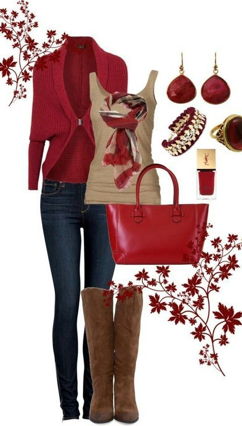 Red Clothing Style for Fall 2017