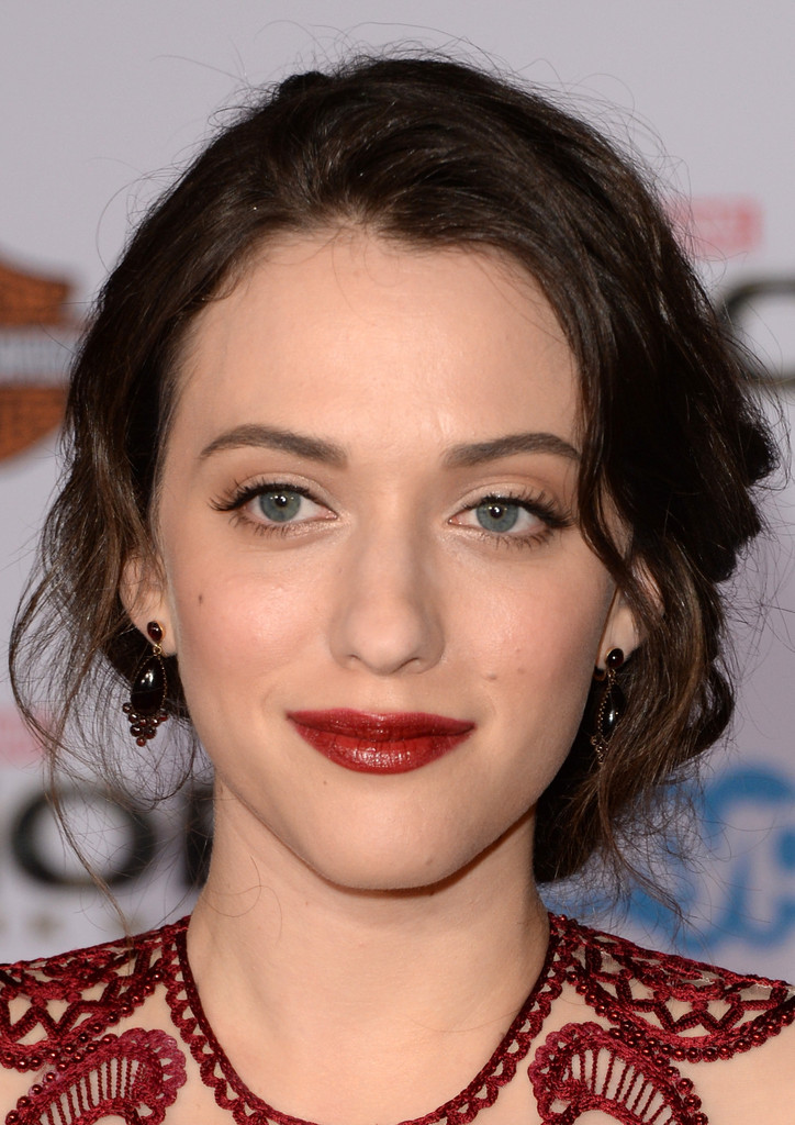 Braided Hairstyle Kat Dennings Twisted Knot Bun For A