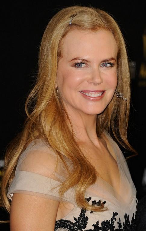 Nicole Kidman Long Hairstyle Clipped Bangs Pretty Designs
