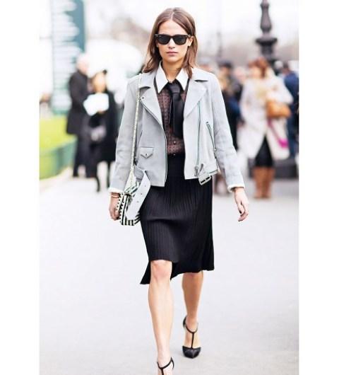 Gray Moto Jacket for Women