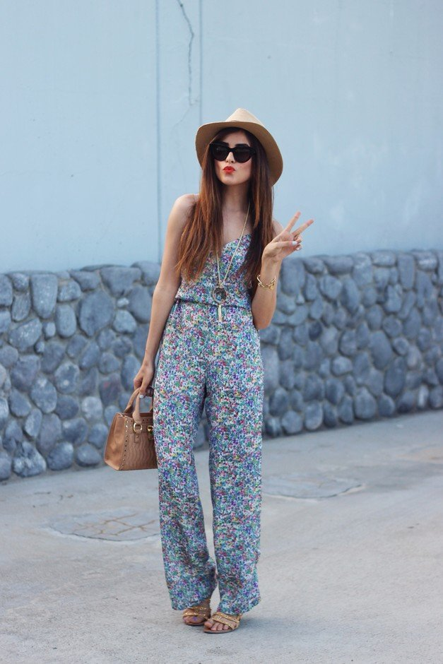 Chic Floral Jumpsuit for Young Women