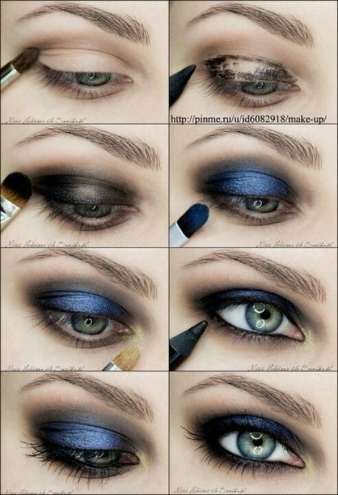 Dress And Beautiful Eyes Blue Eye Makeup Tutorial Prom