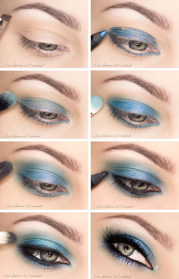 Try Glowing Eye Makeup Ideas With Blue Shadows Pretty
