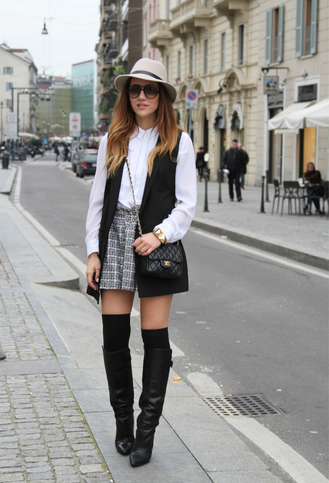 Fall 2014 Fashionable Outfit Ideas With Hats Pretty Designs