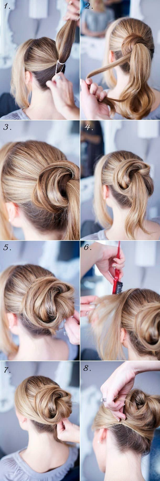 14 easy step by step updo hairstyles tutorials - pretty designs