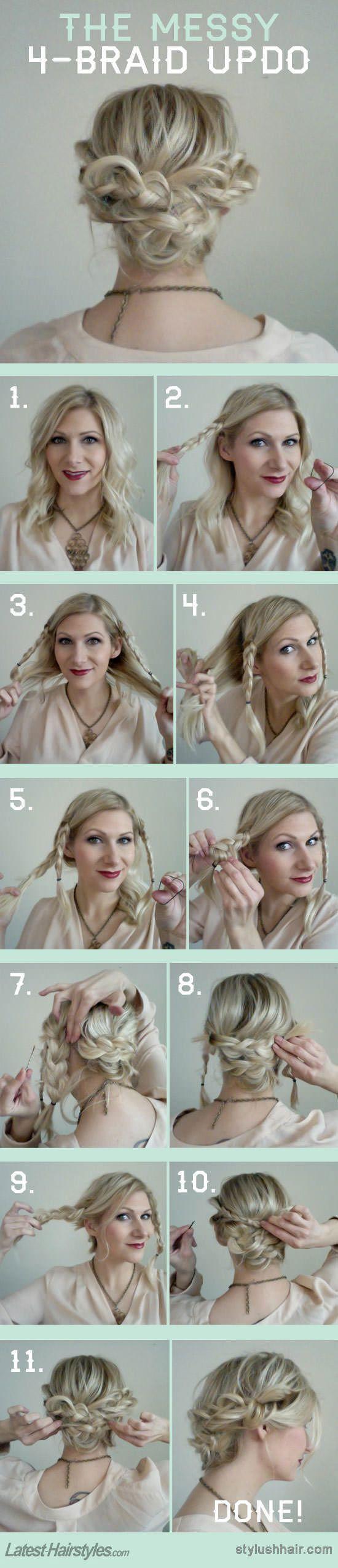16 easy and chic bun hairstyles for medium hair - pretty designs