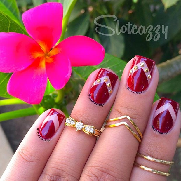 Simple Red Wedding Nail Art Designs Ideas 2016 Fabulous
