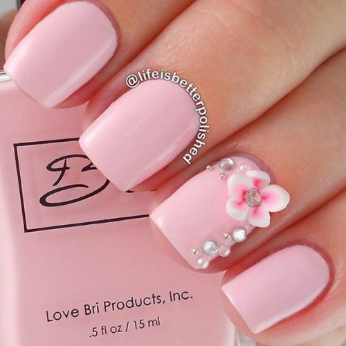 Classy Matte Pink Nails
