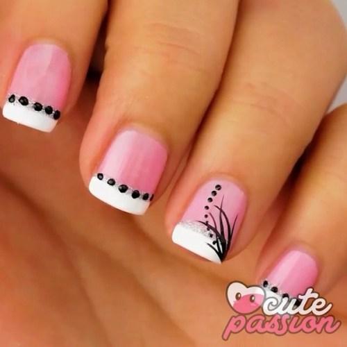 French Mani Pink Nails