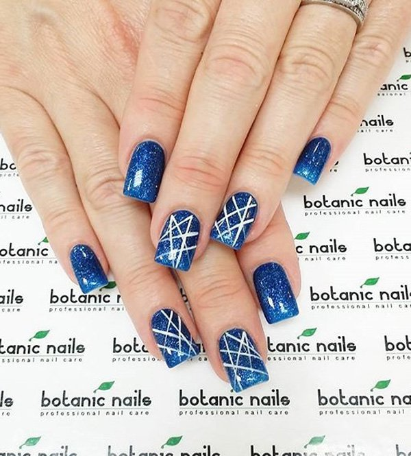 Simple Nail Art Line Designs Summer