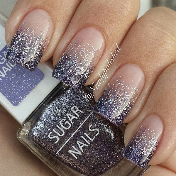 35 Amazing Glitter Nail Designs For 2017 Pretty 12 Gel French Tip