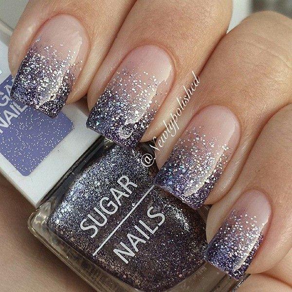 Glitter Tip Nail Design