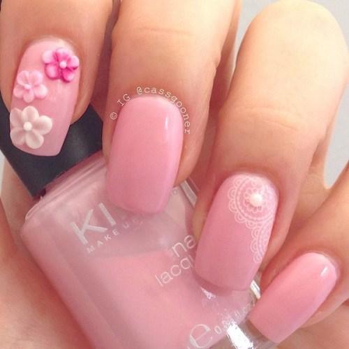 Pretty Baby Pink Nail Design
