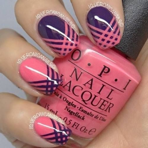 Purple and Pink Nails