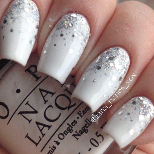 Glitter Wedding Nail Design