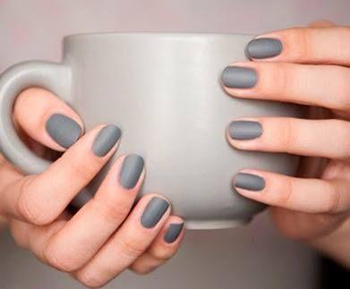 Grey Matte Nails
