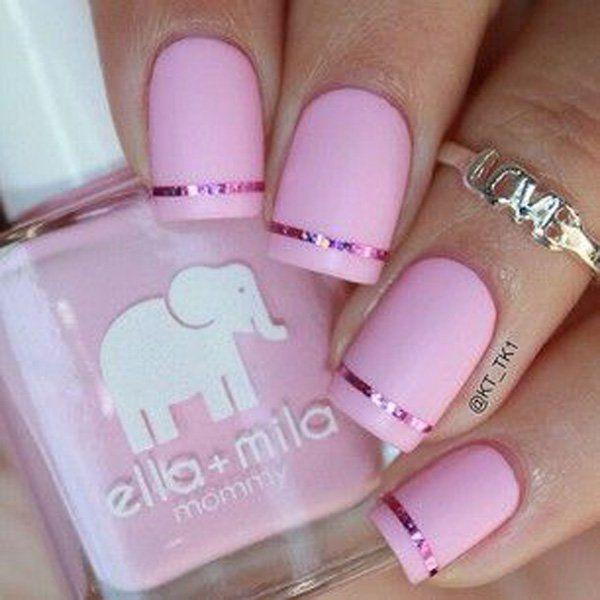 Pink Matte Nails