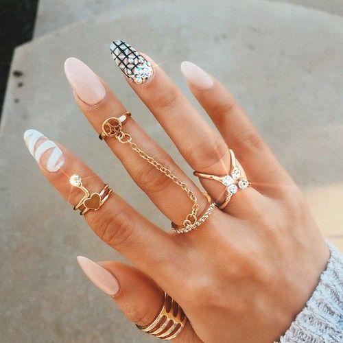 Rose Quartz Nail Design