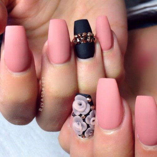 Rose Quartz Matte Nails