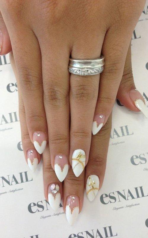 Stunning Wedding Nail Design