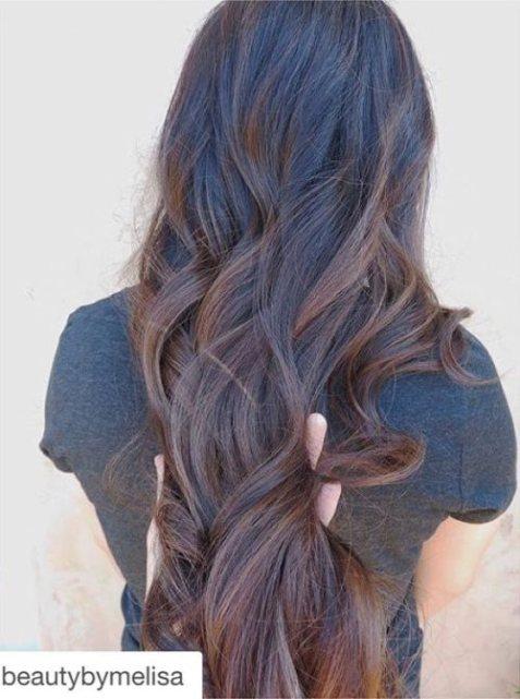 Black and Chestnut Hair