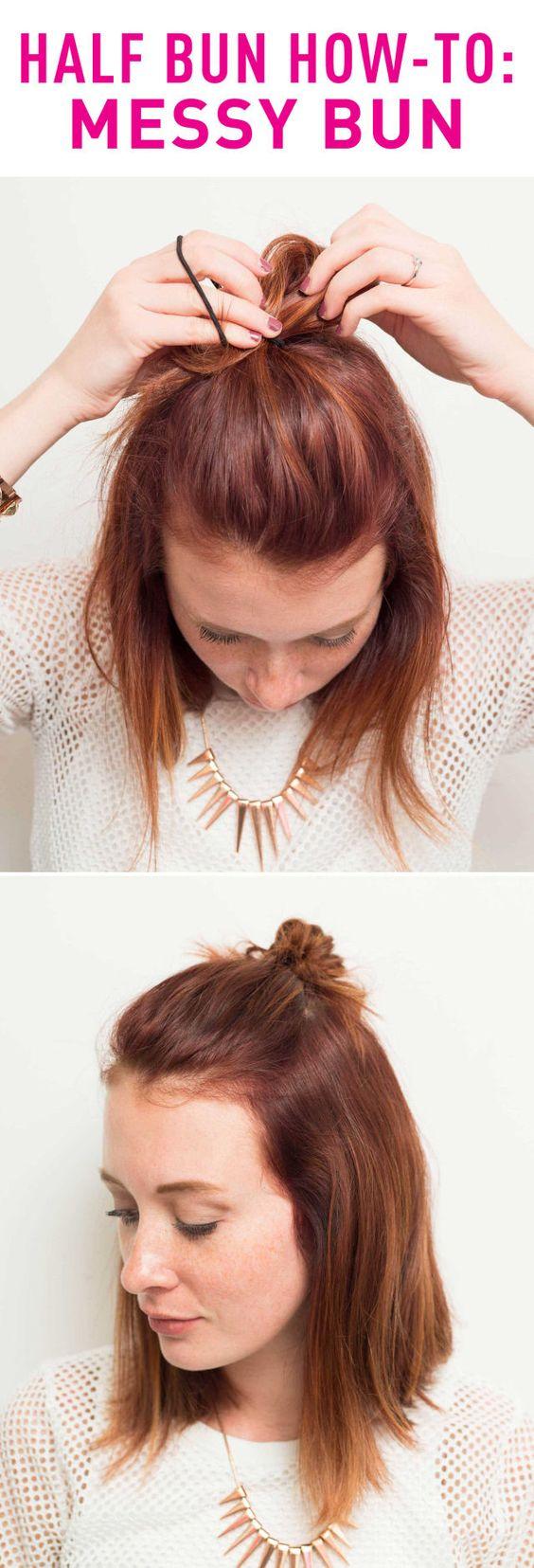 Easy Buns Short Hair