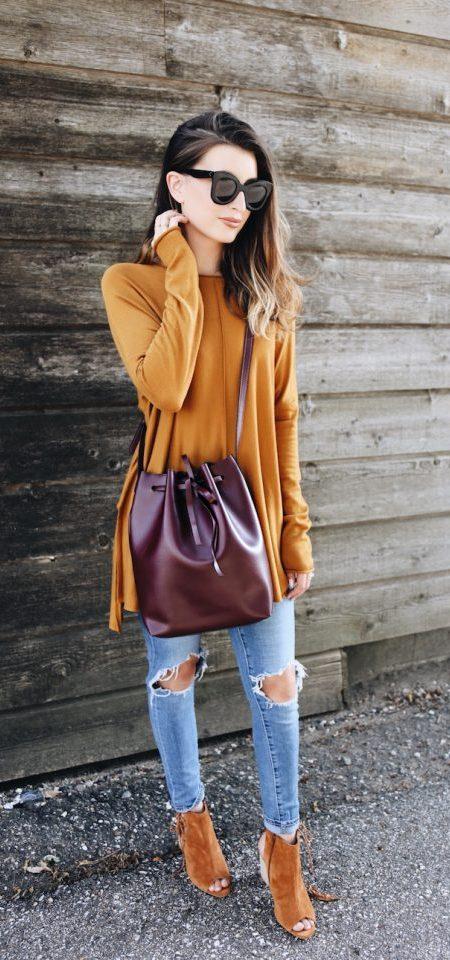 Burgundy Barrel Bag