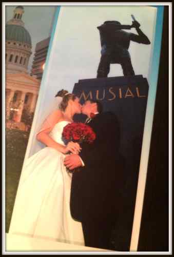 Stan Musial Statue Wedding Picture