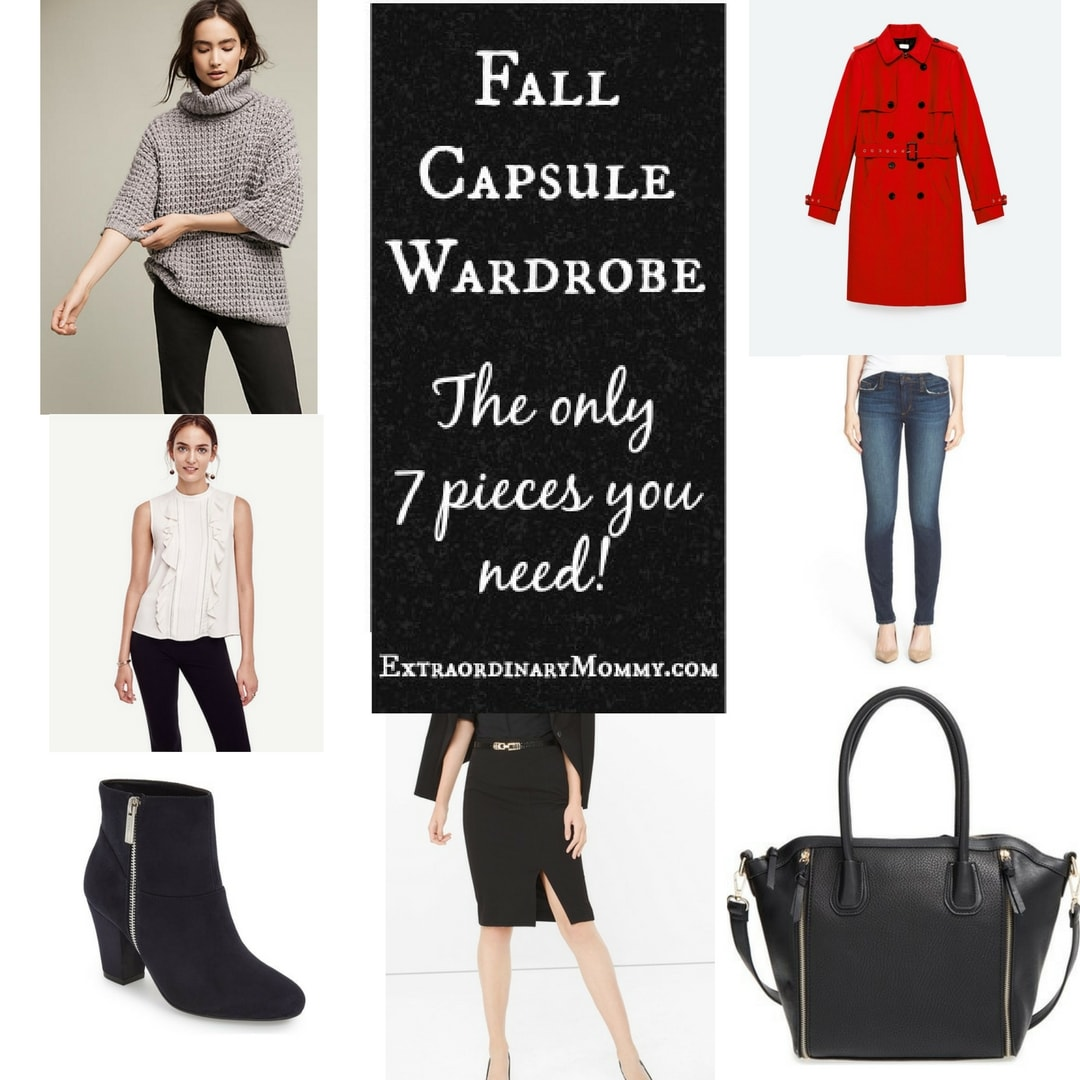 Fall Capsule Wardrobe - The Only 7 Pieces You Need - 2016