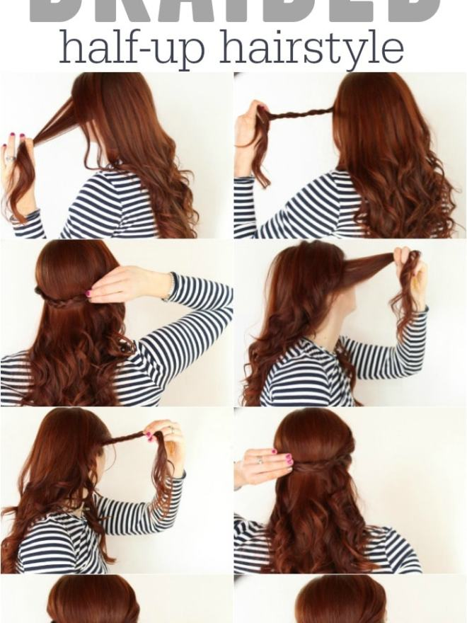 Simple Hairstyle Up : How to: simple braided half up hairstyle pretty extraordinary
